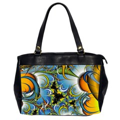 Fractal Background With Abstract Streak Shape Office Handbags (2 Sides)  by Simbadda
