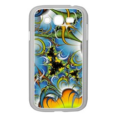Fractal Background With Abstract Streak Shape Samsung Galaxy Grand Duos I9082 Case (white) by Simbadda