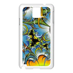 Fractal Background With Abstract Streak Shape Samsung Galaxy Note 3 N9005 Case (white) by Simbadda
