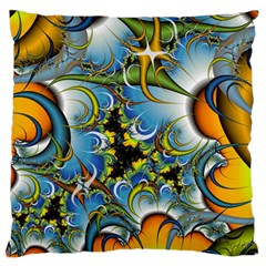 Fractal Background With Abstract Streak Shape Standard Flano Cushion Case (two Sides) by Simbadda