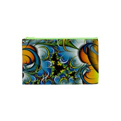 Fractal Background With Abstract Streak Shape Cosmetic Bag (xs) by Simbadda