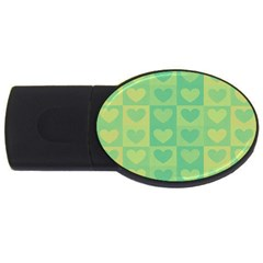 Pattern Usb Flash Drive Oval (4 Gb) by Valentinaart