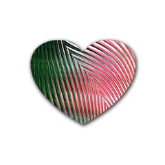 Watermelon Dream Rubber Coaster (heart)  by Simbadda