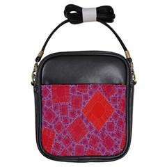 Voronoi Diagram Girls Sling Bags by Simbadda