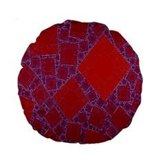 Voronoi Diagram Standard 15  Premium Round Cushions by Simbadda
