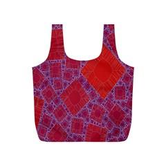 Voronoi Diagram Full Print Recycle Bags (s)  by Simbadda