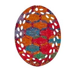 Abstract Art Pattern Oval Filigree Ornament (two Sides) by Simbadda