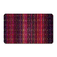 Colorful And Glowing Pixelated Pixel Pattern Magnet (rectangular) by Simbadda