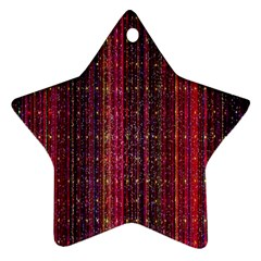 Colorful And Glowing Pixelated Pixel Pattern Star Ornament (two Sides) by Simbadda