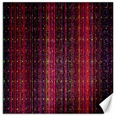 Colorful And Glowing Pixelated Pixel Pattern Canvas 20  X 20   by Simbadda
