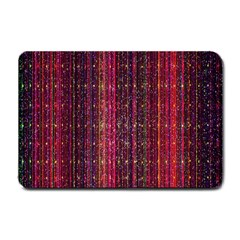 Colorful And Glowing Pixelated Pixel Pattern Small Doormat  by Simbadda