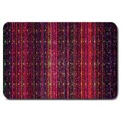 Colorful And Glowing Pixelated Pixel Pattern Large Doormat  by Simbadda