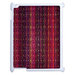 Colorful And Glowing Pixelated Pixel Pattern Apple Ipad 2 Case (white) by Simbadda