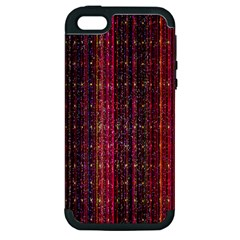 Colorful And Glowing Pixelated Pixel Pattern Apple Iphone 5 Hardshell Case (pc+silicone) by Simbadda