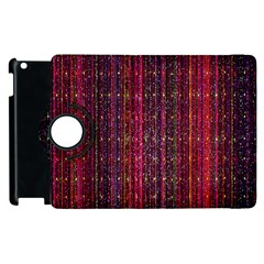 Colorful And Glowing Pixelated Pixel Pattern Apple Ipad 3/4 Flip 360 Case by Simbadda