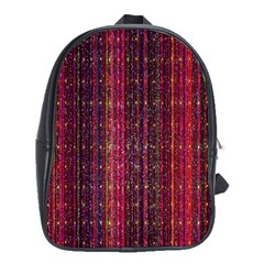 Colorful And Glowing Pixelated Pixel Pattern School Bags (xl)  by Simbadda