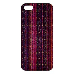 Colorful And Glowing Pixelated Pixel Pattern Apple Iphone 5 Premium Hardshell Case by Simbadda