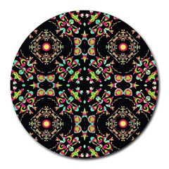 Abstract Elegant Background Pattern Round Mousepads by Simbadda
