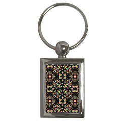 Abstract Elegant Background Pattern Key Chains (rectangle)  by Simbadda