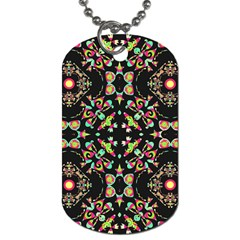 Abstract Elegant Background Pattern Dog Tag (two Sides) by Simbadda