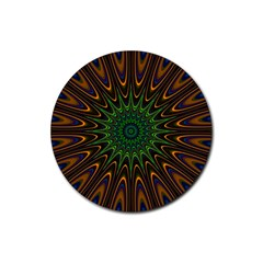 Vibrant Colorful Abstract Pattern Seamless Rubber Coaster (round)