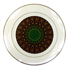 Vibrant Colorful Abstract Pattern Seamless Porcelain Plates by Simbadda