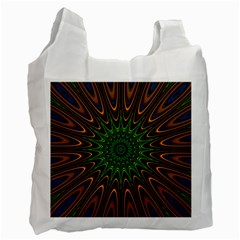 Vibrant Colorful Abstract Pattern Seamless Recycle Bag (one Side) by Simbadda