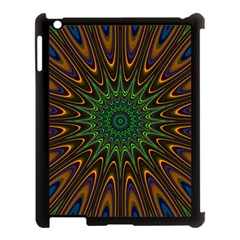 Vibrant Colorful Abstract Pattern Seamless Apple Ipad 3/4 Case (black) by Simbadda