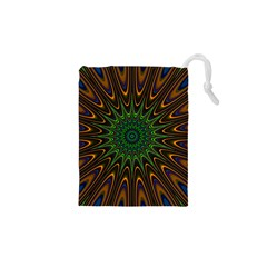 Vibrant Colorful Abstract Pattern Seamless Drawstring Pouches (xs)