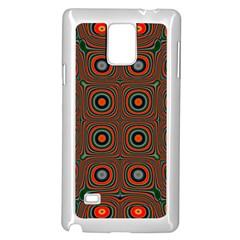 Vibrant Pattern Seamless Colorful Samsung Galaxy Note 4 Case (white) by Simbadda