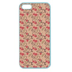 Vintage Flower Pattern  Apple Seamless Iphone 5 Case (color) by TastefulDesigns