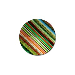 Colorful Stripe Extrude Background Golf Ball Marker by Simbadda