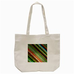 Colorful Stripe Extrude Background Tote Bag (cream) by Simbadda
