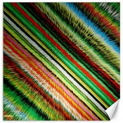 Colorful Stripe Extrude Background Canvas 20  X 20   by Simbadda