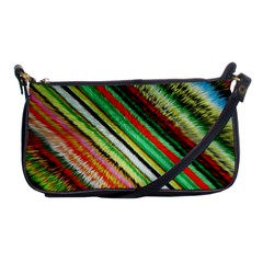 Colorful Stripe Extrude Background Shoulder Clutch Bags by Simbadda