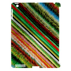 Colorful Stripe Extrude Background Apple Ipad 3/4 Hardshell Case (compatible With Smart Cover) by Simbadda