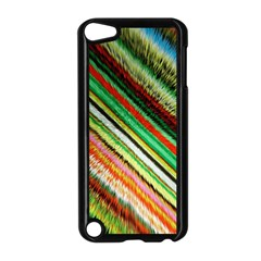 Colorful Stripe Extrude Background Apple Ipod Touch 5 Case (black) by Simbadda