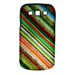 Colorful Stripe Extrude Background Samsung Galaxy S Iii Classic Hardshell Case (pc+silicone) by Simbadda