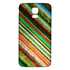 Colorful Stripe Extrude Background Samsung Galaxy S5 Back Case (white) by Simbadda