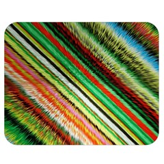 Colorful Stripe Extrude Background Double Sided Flano Blanket (medium)  by Simbadda