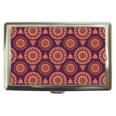 Abstract Seamless Mandala Background Pattern Cigarette Money Cases by Simbadda