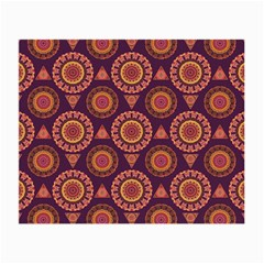 Abstract Seamless Mandala Background Pattern Small Glasses Cloth (2 Side) by Simbadda