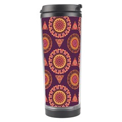 Abstract Seamless Mandala Background Pattern Travel Tumbler by Simbadda