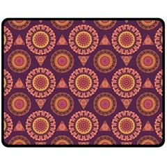 Abstract Seamless Mandala Background Pattern Double Sided Fleece Blanket (medium)  by Simbadda