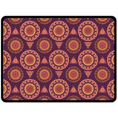 Abstract Seamless Mandala Background Pattern Double Sided Fleece Blanket (large)  by Simbadda
