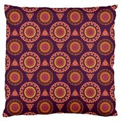 Abstract Seamless Mandala Background Pattern Large Flano Cushion Case (two Sides) by Simbadda