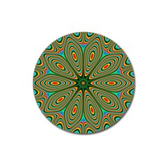 Vibrant Seamless Pattern  Colorful Magnet 3  (Round)