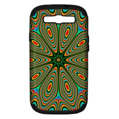 Vibrant Seamless Pattern  Colorful Samsung Galaxy S Iii Hardshell Case (pc+silicone) by Simbadda