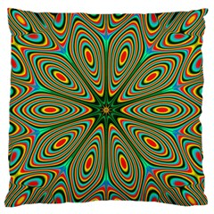 Vibrant Seamless Pattern  Colorful Large Flano Cushion Case (one Side) by Simbadda