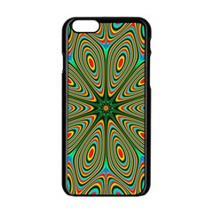 Vibrant Seamless Pattern  Colorful Apple Iphone 6/6s Black Enamel Case by Simbadda